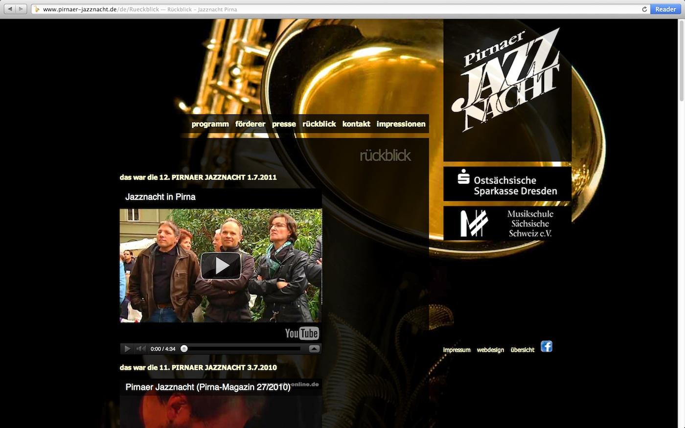 Webdesign Pirnaer Jazznacht