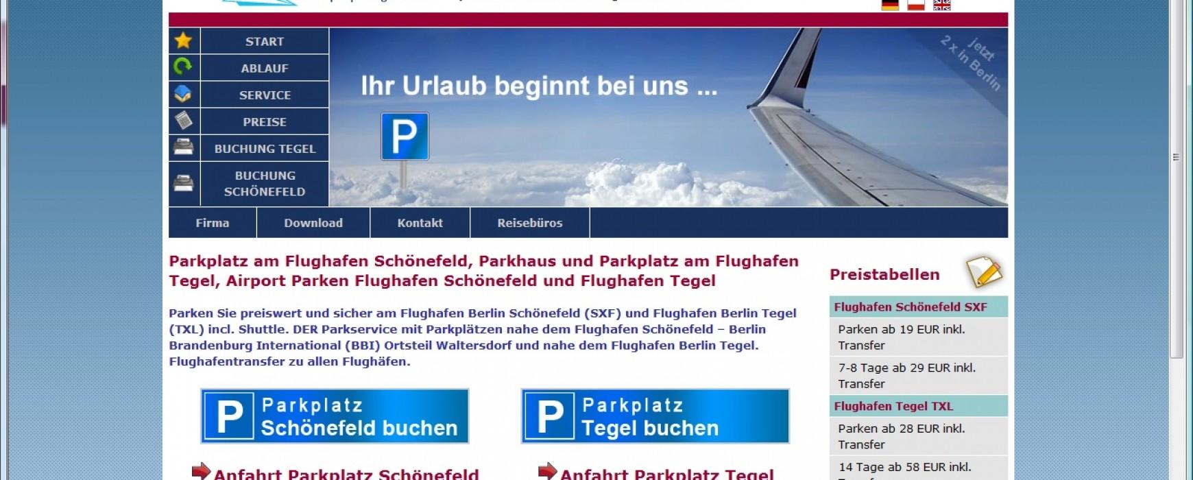 Parken am Flughafen Berlin Schönefeld und Tegel