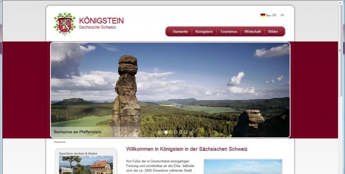 Königstein Sächsische Schweiz, Website mit Content Management System erstellt