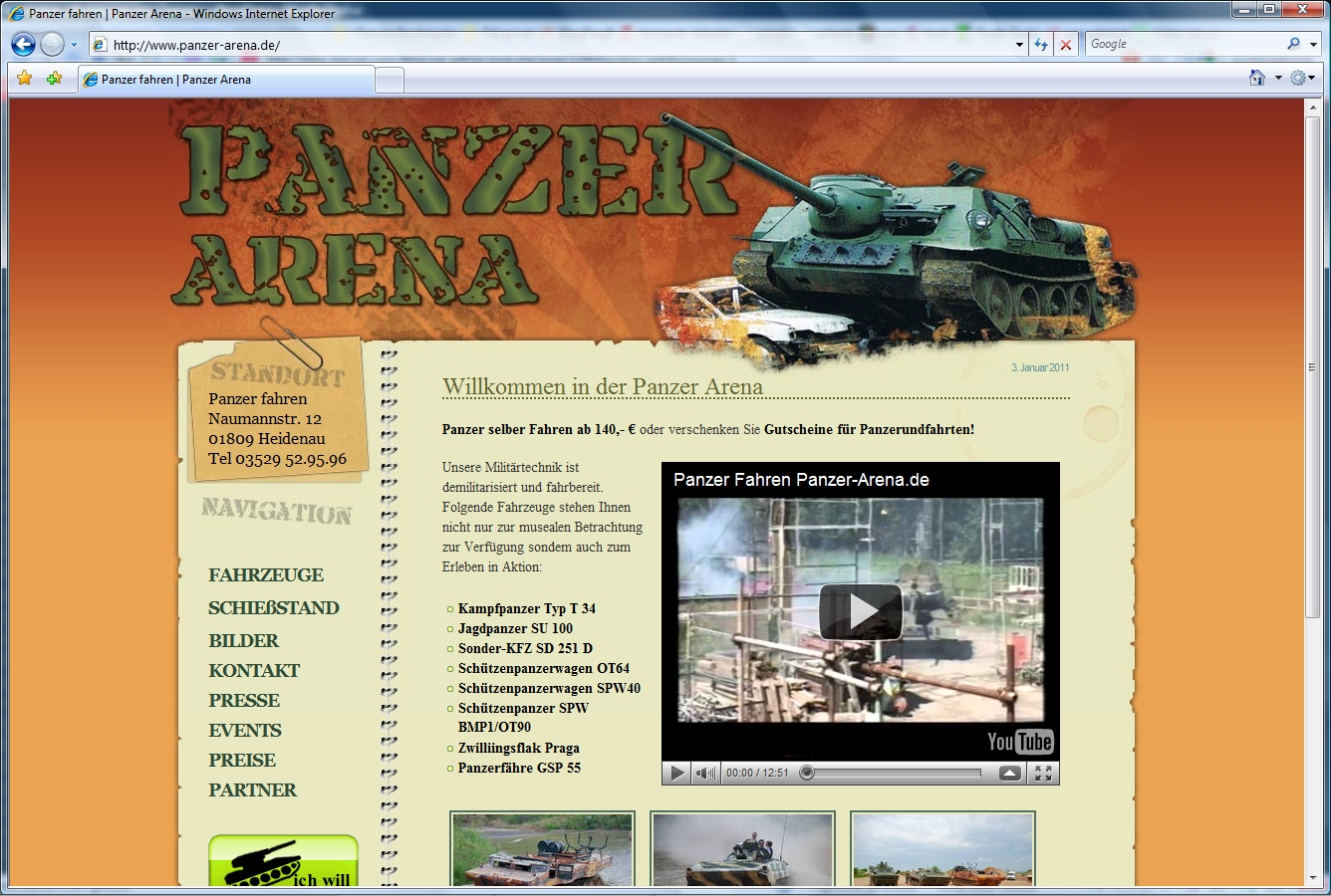 Webdesign und Panzer | robuste Website