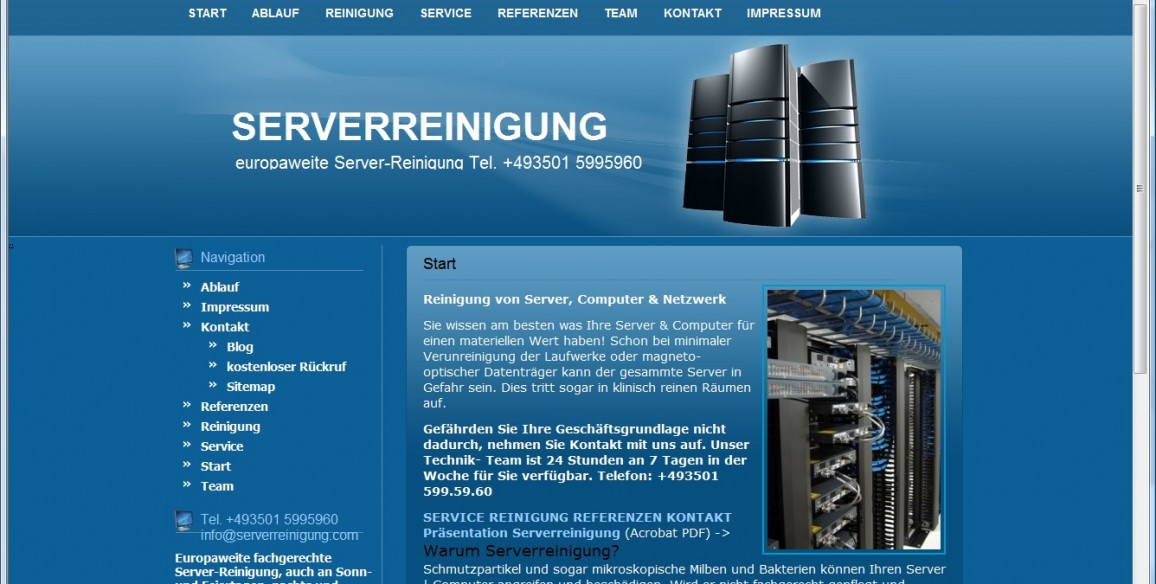 Website Serverreinigung.com