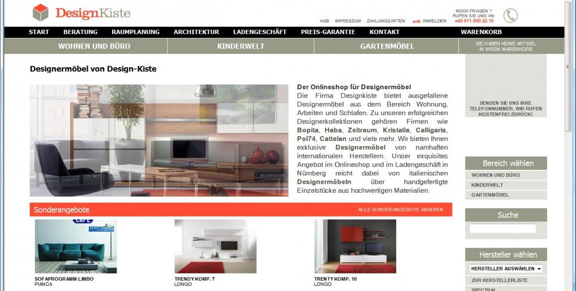 Designermöbel Onlineshop von Design-Kiste