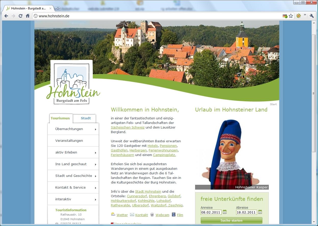 neue Website für Hohnstein
