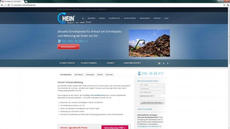 Relaunch Hein Schrotthandel Berlin