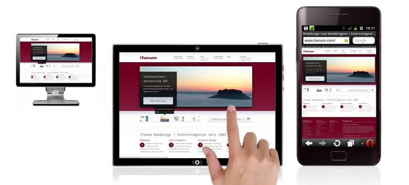 mobile Webseiten, responsive Webdesign