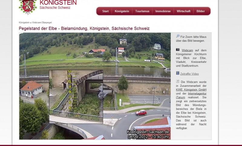 Webkamera Königstein Kreisverkehr