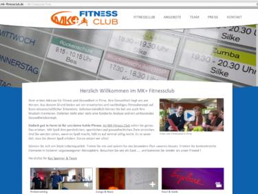 Fitnessclub in Pirna, Webdesign und Website Erstellung