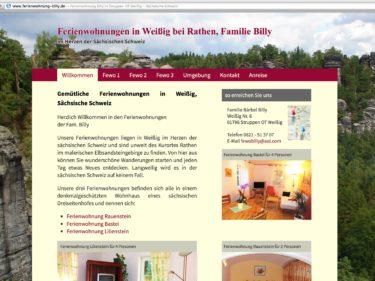 Ferienwohnungen Billy im Kurort Rathen
