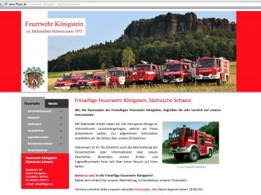 Website der Feuerwehr Königstein, Sächsische Schweiz