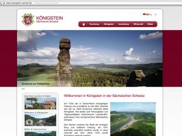 Internetportal der Stadt Königstein in der Sächsische Schweiz