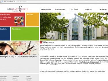 Neustadthalle, Neustadt Sachsen – Website Relaunch