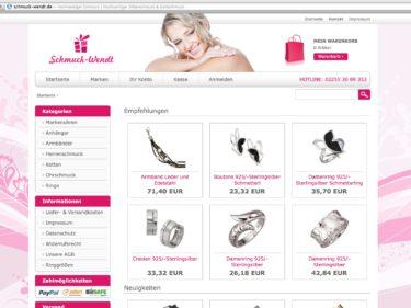 Schmuck und Uhren Onlineshop